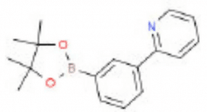Structure of 2- [3- (4, 4, 5, 5- Tetramethyl- 1, 3, 2-dioxaborolan- 2- yl) phenyl] pyridine CAS 453530-49-9