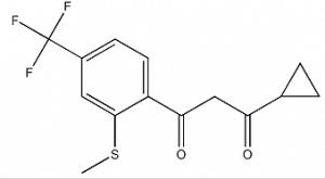 Structure of 1-cyclopropyl-3-[2-(methylthio)-4-(trifluoromethyl)phenyl]propane-1,3-dione CAS 161462-35-7